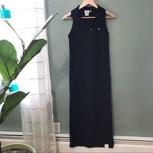 Lacoste Black Long Dress Size 4 or 36